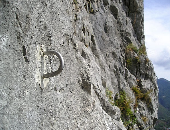 Bühler Hook Glued Pasted Klebebohrhaken Rock Wall