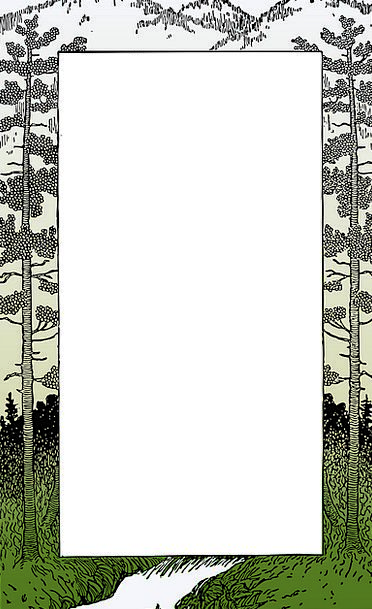 frame edge landscapes nature mountain crag border banner trees plants greeting pattern invitation ornamental design card pixcove pixcove
