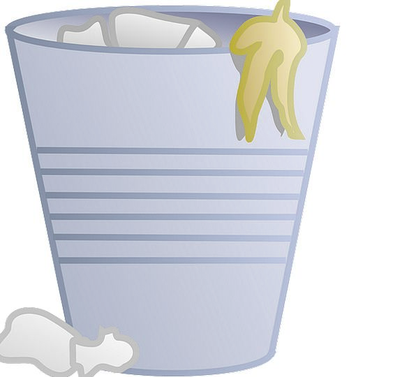 Garbage Trash Basket Dust Powder Bin Trash Rubbish