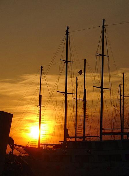 Ship Vessel Vacation Gumboot Travel Masts Poles Bo