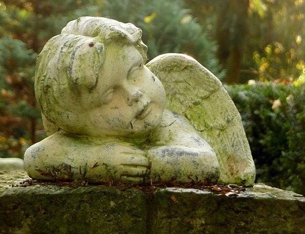 Cherub Seraph Consolation Comfort Angel Cemetery G