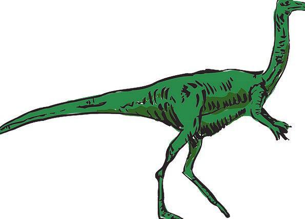Dinosaur Relic Lime Extinct Nonexistent Green Larg