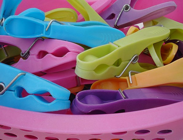 Clothespins Interesting Plastic Malleable Colorful