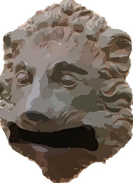Head Skull Slot Slit Lion Wildlife Nature Predator