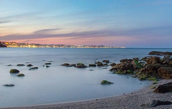 Costa Del Sol Vacation Seashore Travel Sand Shingl