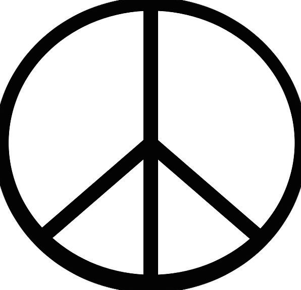 Peace Concord Sign Symbol Free Vector Graphics Bri