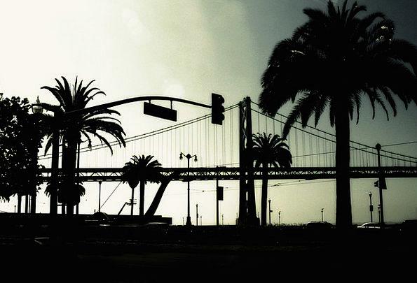 Bridge Bond Buildings Outline Architecture Palms T