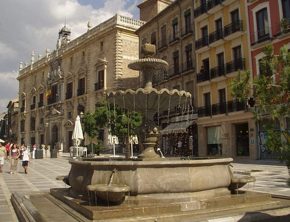 Fountain Cascade Spain Fountain City Water Aquatic