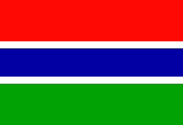Gambia Standard National Nationwide Flag Country R
