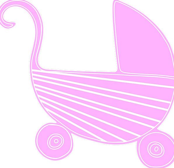 Baby Darling Buggy Carriage Bearing Stroller Pink
