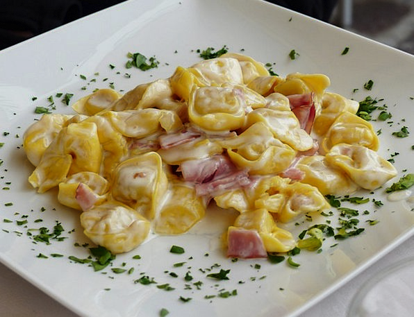 Tortellini Drink Food Pasta Noodles Italian Plate