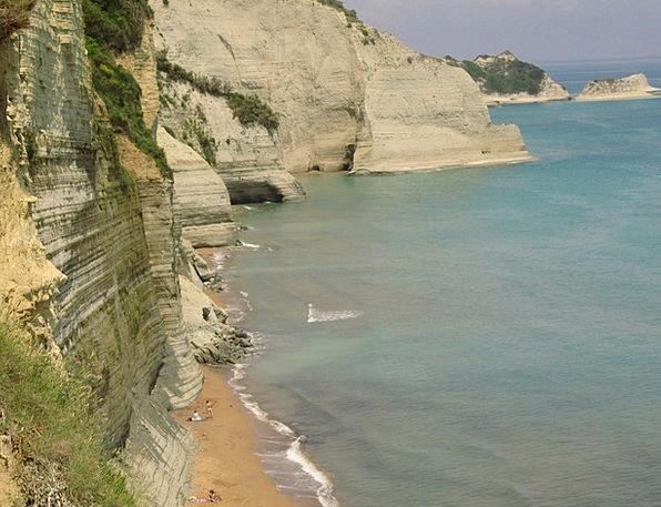 Coast Shore Vacation Precipices Travel Corfu Cliff