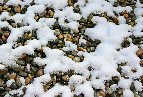 Rocks Pillars Snowflake White Snowy Snow Winter Se
