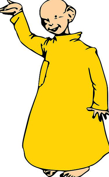 Monk Friar Boy Lad Yellow Robe Man Gentleman Kid F
