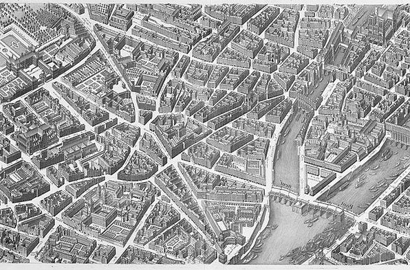 paris buildings urban architecture map chart city