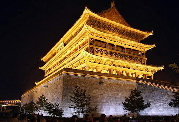 Xian Porcelain Temple Shrine China Outside Buildin