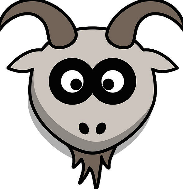 Goat Skull Cartoon Animation Head Gray Leaden Anim