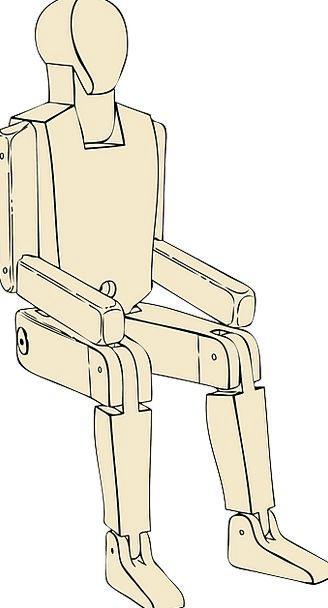Mannequin Dummy Sedentary Man Gentleman Sitting Li