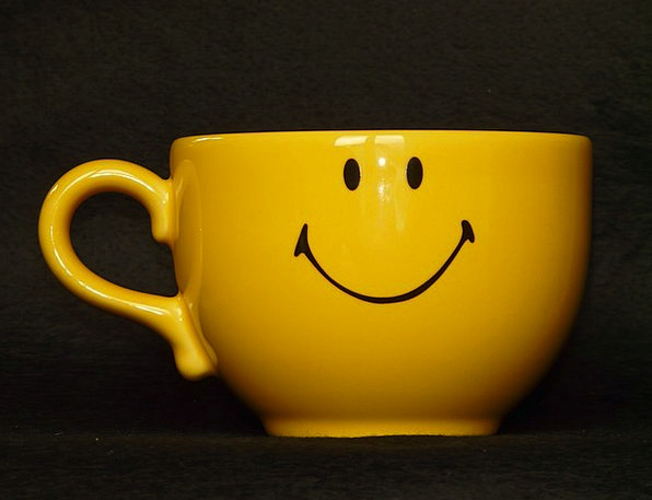 Cup Mug Smiley Smiling Coffee Cup Emoticon Yellow