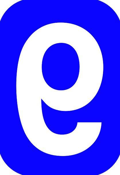 Number Amount Nine 9 Rounded Round Rectangle Blue