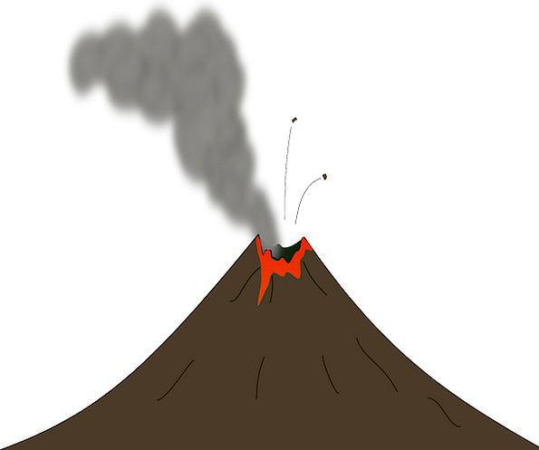 Earth Soil Burn Volcano Smoke Lava Magma Erupting