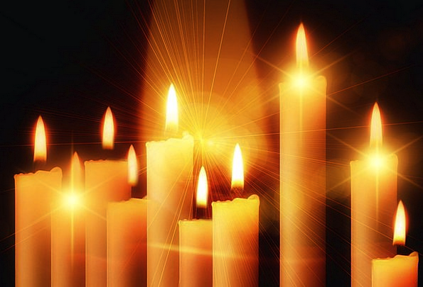 Candles Tapers Bright Lights Illuminations Light L