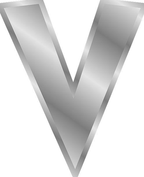 V Against Letter Communication Letter V Character