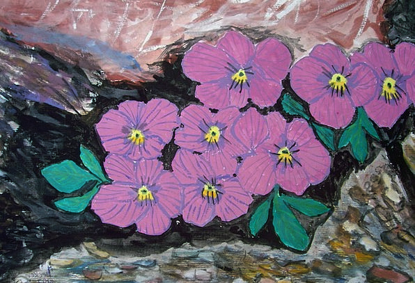 Alpine Mountainous Craft Plants Industry Painting