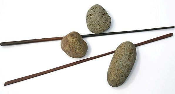 Stick Twig Firewood Stones Gravels Sticks Rock Pil