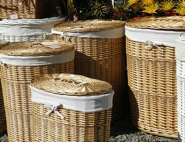 Wicker Cane Bags Shop Workshop Baskets Lid Top Cov
