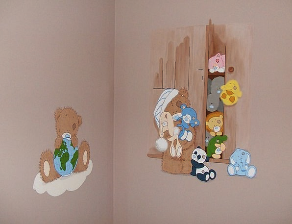 Wall Painting Fresco Teddy Bear Teddy Plush Teddy