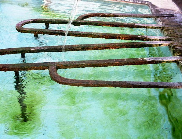 Fountain Cascade Water Basin Water Jet Switzerland