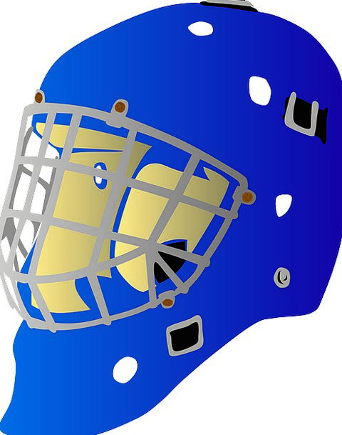 Helmet Hat Goalie Hockey Athlete Equipment Gear Wi