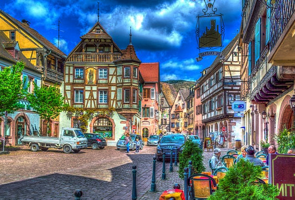 Kaysersberg France Alsace Truss Bind Colorful Old