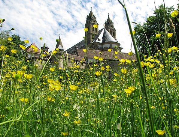 Monastery Cloister Schwäbisch Hall Comburg Meadow