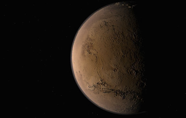 Mars Defaces Landscapes Earth Nature Solar System
