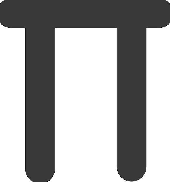 Pie Tart Symbol Sign 22 7 Mathematical Exact Pixcove