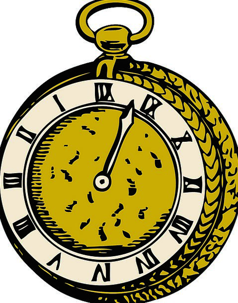 Pocket Concise Old Ancient Watch Free Vector Graph