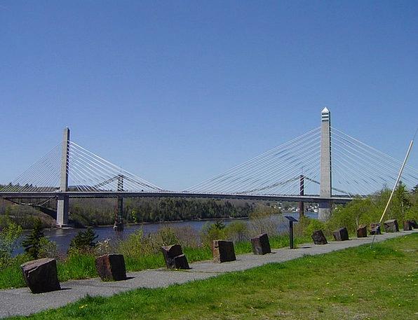 Bridge Bond Aquatic Maine Water Scenic Picturesque