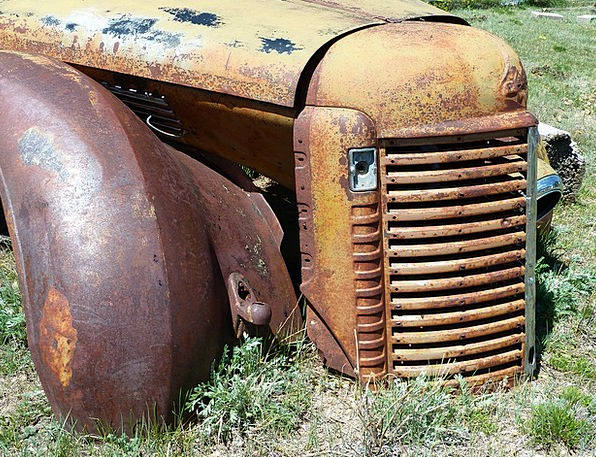 Old Ancient Traffic Corroded Transportation Car Ca