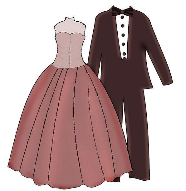 Pair Couple Man Gentleman Bride And Groom Woman La