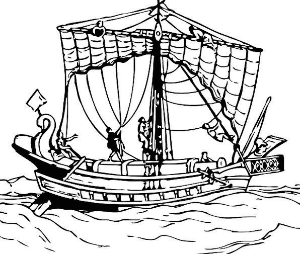Ship Vacation Travel Sails Navigates Boat Free Vec