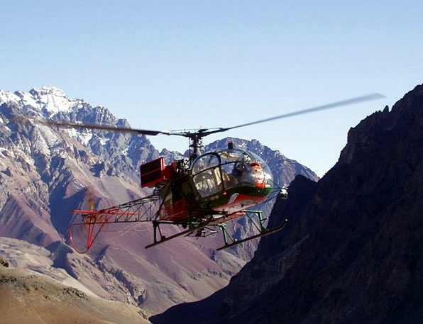 Helicopter Airplane Aconcagua Mountain Rescue Expe