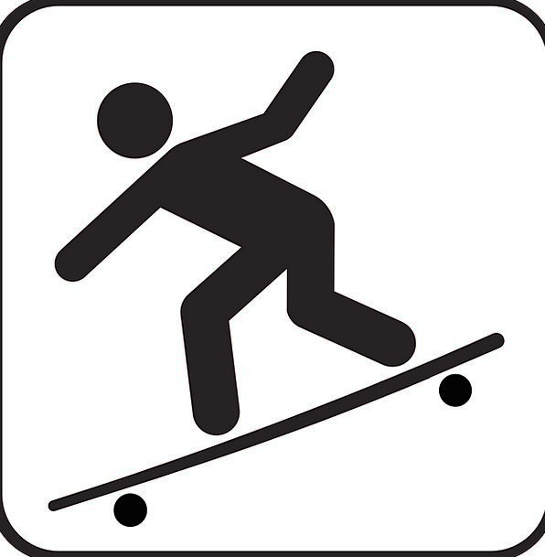 Skate Board Stick Figure Stickman Matchstick Man D