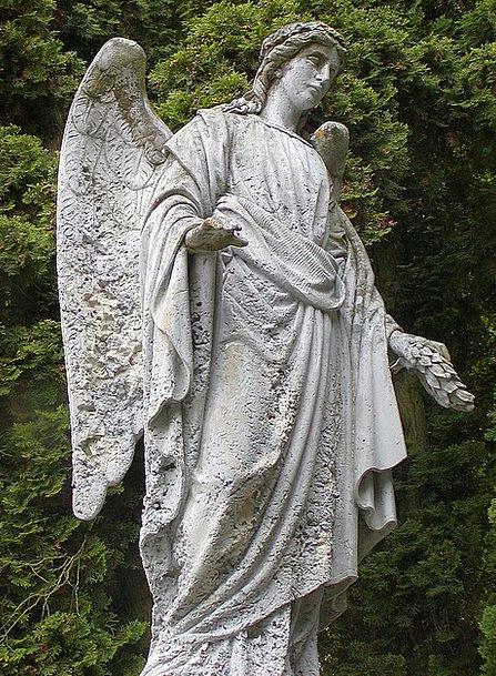 Statue Figurine Graveyard Rest Break Cemetery Ange