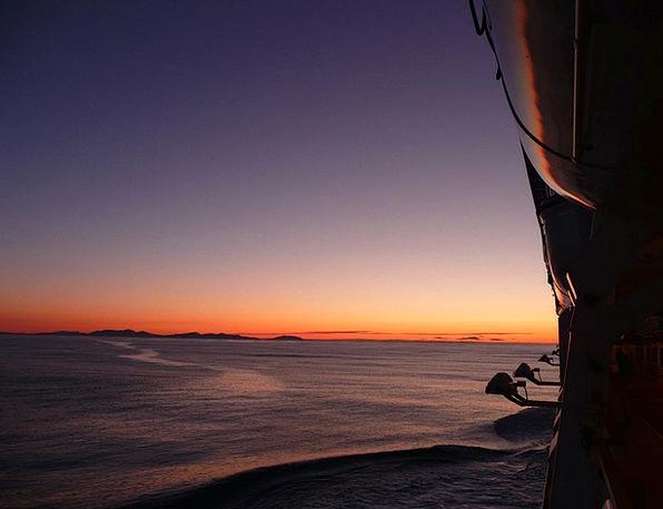 Cruise Voyage Landscapes Nature Sunrise Dawn Sun M