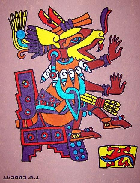 Huehuecoyotl Aztec God Aztec Figures Trickster Che