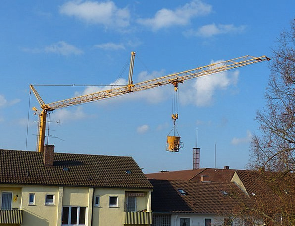 Crane Hoist Construction Work Baukran Concrete Buc