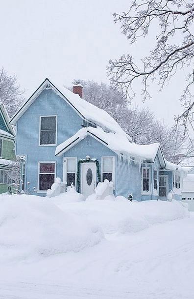 House Household Buildings Season Architecture Blue