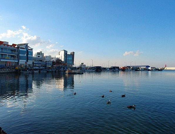 Sea Marine Blue Gangwon Do Sky Sokcho Daepo Port W